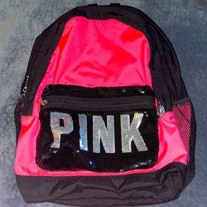 🎒 VS PINK RARE HTF Vintage Campus Backpack 🎒